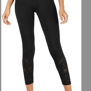 NWT Ideology Womens Yoga leggings Perforated Ankle